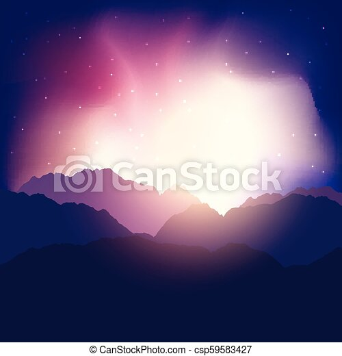 Abstract mountain landscape - csp59583427