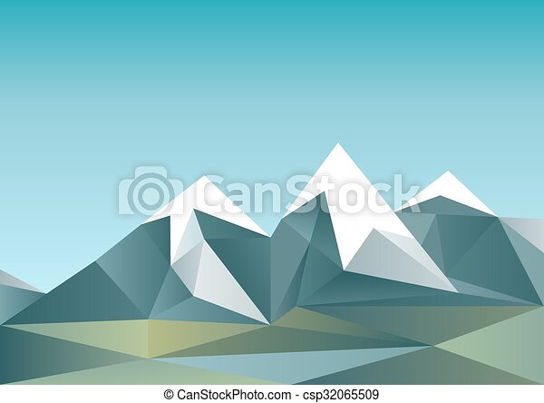 Abstract mountains in polygonal style - csp32065509