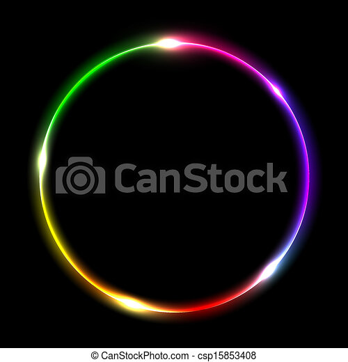 Abstract multicolored circle - csp15853408