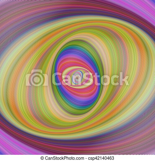 Abstract multicolored hypnotic fractal background - csp42140463