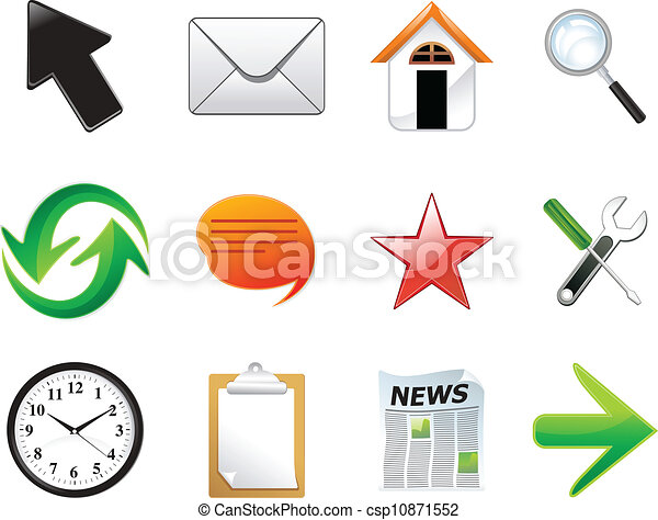 abstract multiple web icon set - csp10871552