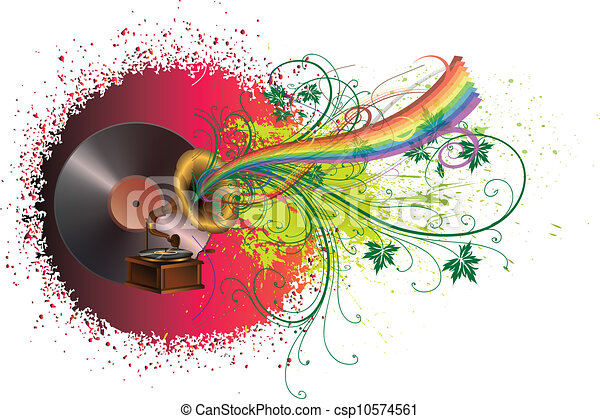 Abstract music background - csp10574561