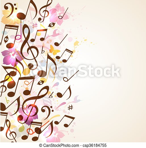 Abstract Music Background Abstract Vector Music Background With