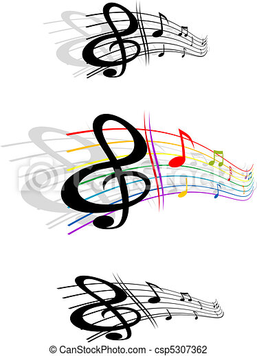 Abstract music background - csp5307362