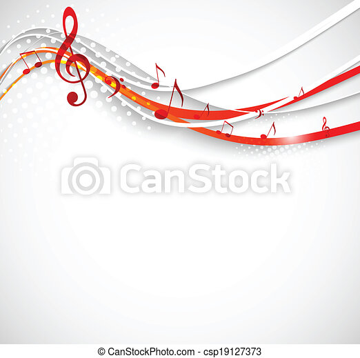 Abstract music background. - csp19127373