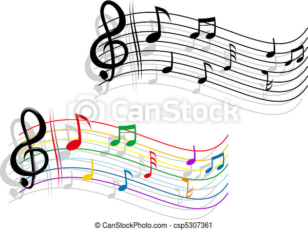 Abstract music background - csp5307361