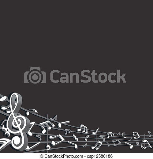 Abstract Music Background. Vector Image - csp12586186