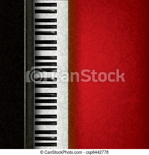 abstract music background with piano - csp6442778