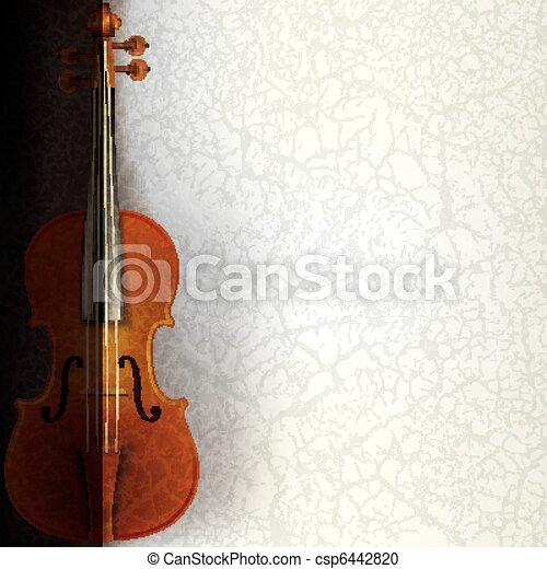 abstract music background with violin - csp6442820