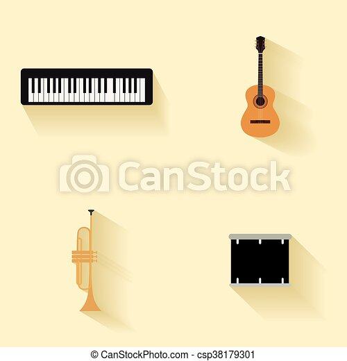 Abstract music instruments - csp38179301