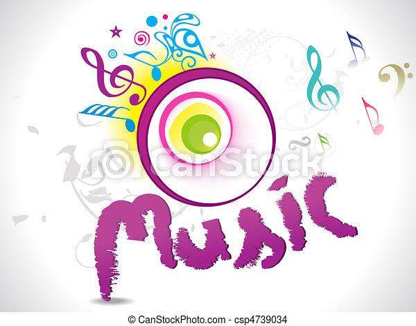 Abstract Music Art Wallpaper