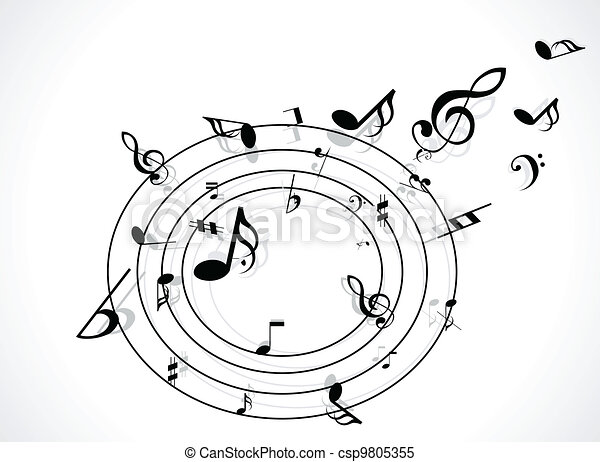 abstract musical background - csp9805355