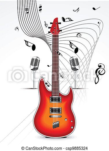 abstract musical background - csp9885324