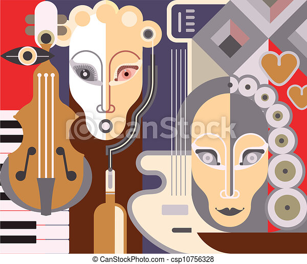 Abstract Musical Background - csp10756328