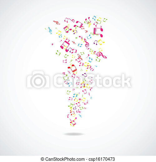 Abstract musical background - csp16170473