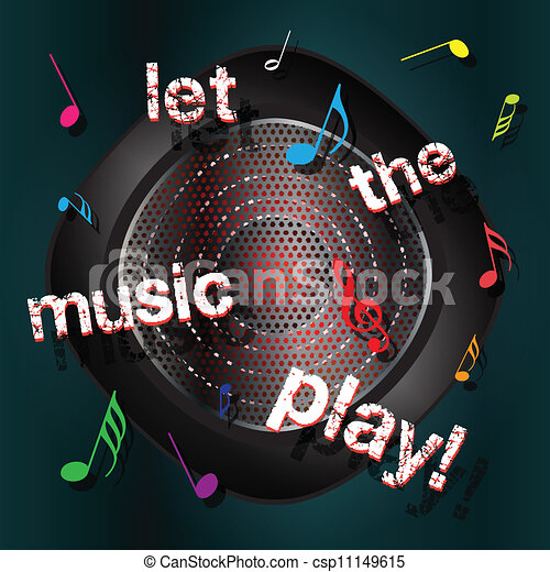 Abstract musical background - csp11149615