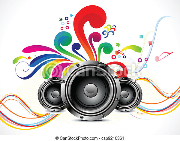 abstract musical background  - csp9210361