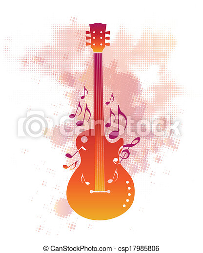 Abstract musical background - csp17985806