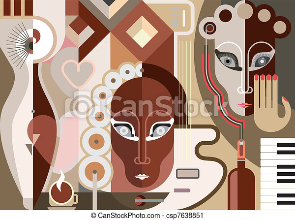 Abstract Musical Illustration - csp7638851