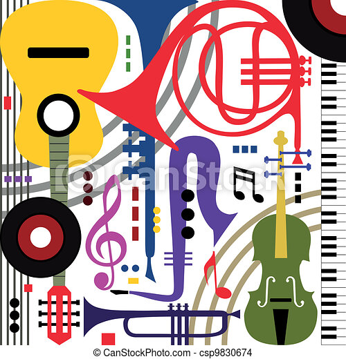 Abstract musical instruments - csp9830674
