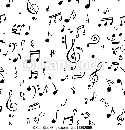 Abstract musical pattern for your design - csp11392899