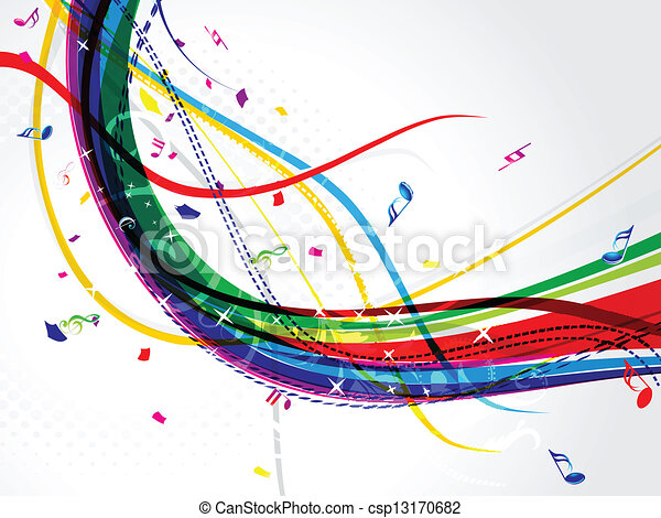 abstract musical wave background - csp13170682