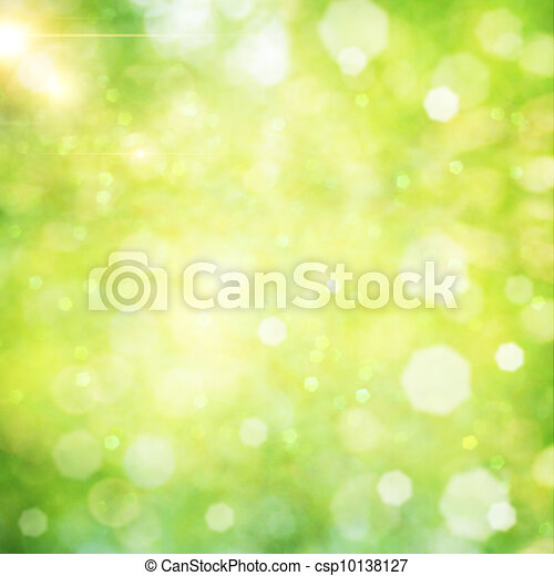 Abstract natural backgrounds with beauty bokeh - csp10138127