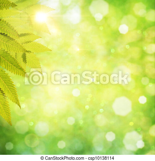 Abstract natural backgrounds with beauty bokeh - csp10138114