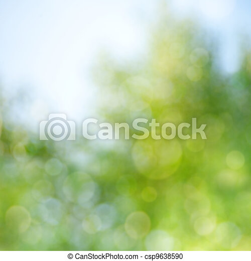 Abstract natural backgrounds with beauty bokeh - csp9638590