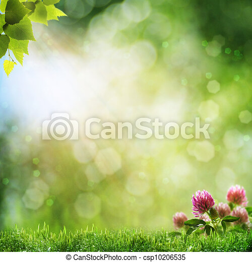 Abstract natural backgrounds with beauty bokeh - csp10206535