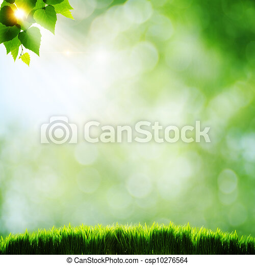 Abstract natural backgrounds with beauty bokeh - csp10276564