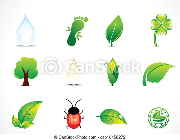 abstract natural eco icon set - csp10458272