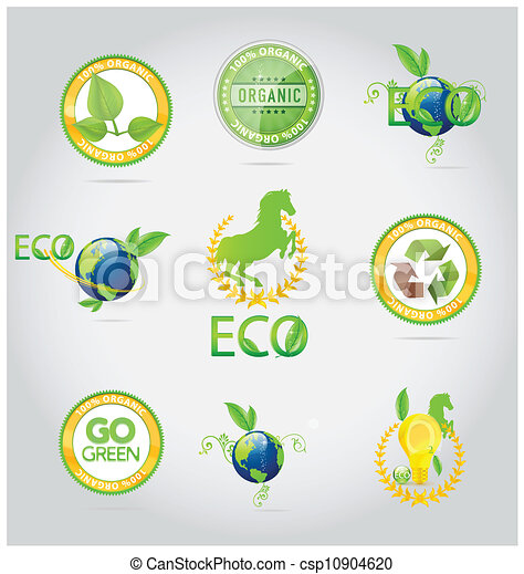 abstract nature symbols and emblems set - csp10904620