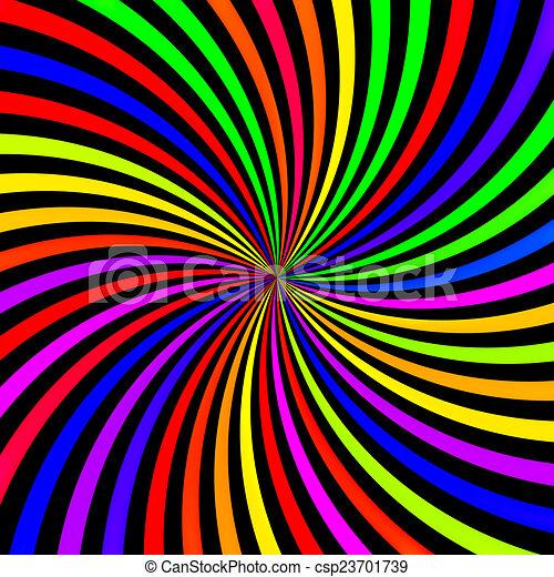 Abstract Neon Rainbow Swirl