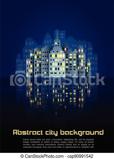 Abstract night city background - csp90991542