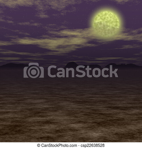 Abstract night landscape generated hires background - csp22638528