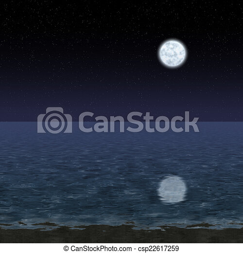 Abstract night landscape generated hires background - csp22617259