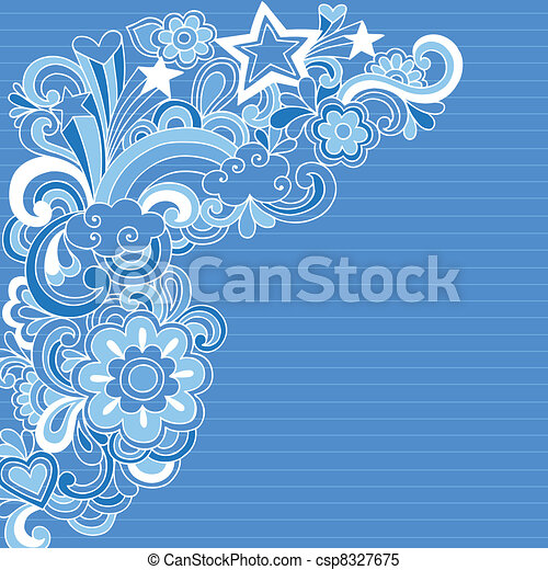 Abstract Notebook Doodles Vector - csp8327675