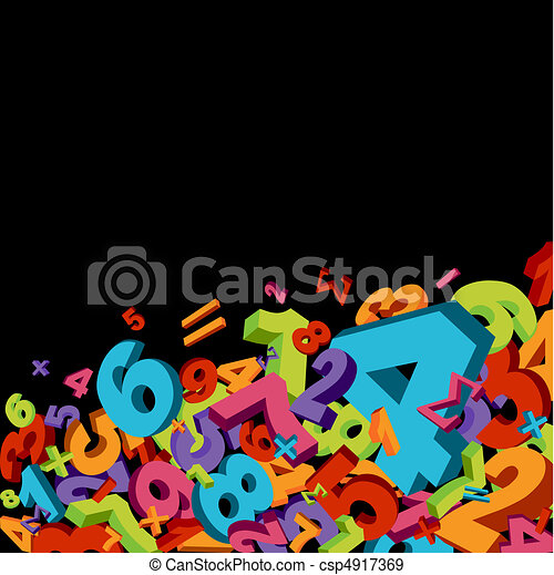 Abstract numbers background - csp4917369