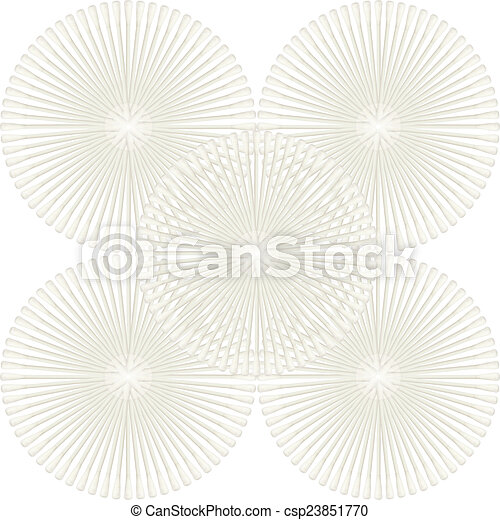 Abstract of Cotton buds isolated on white background - csp23851770