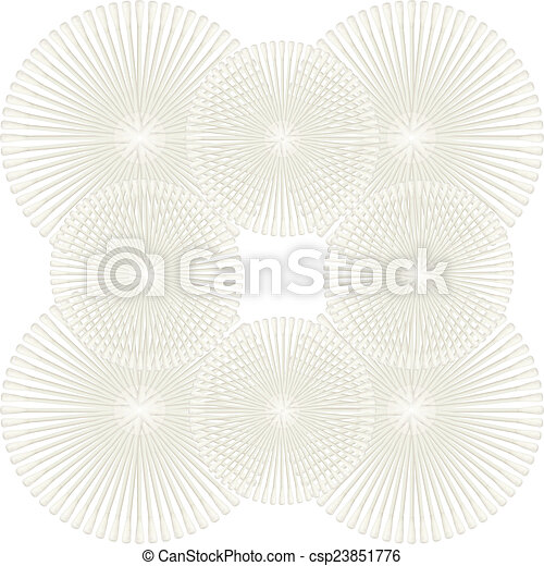 Abstract of Cotton buds isolated on white background - csp23851776