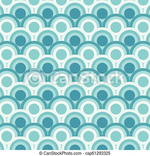 Abstract of simple blue round wave pattern. - csp61293325