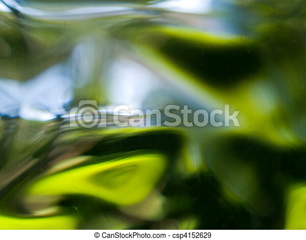 Abstract of the View out of Glass Block Window - csp4152629