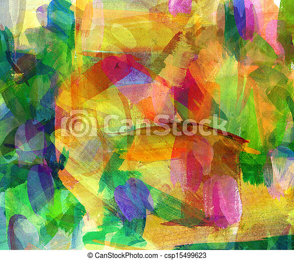 Abstract oil painting. Freehand drawing - csp15499623