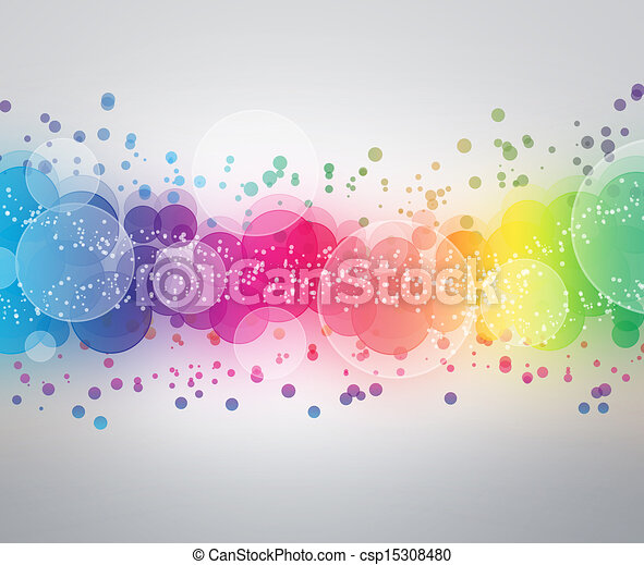 Abstract on a colorful background digital bokeh effect - csp15308480