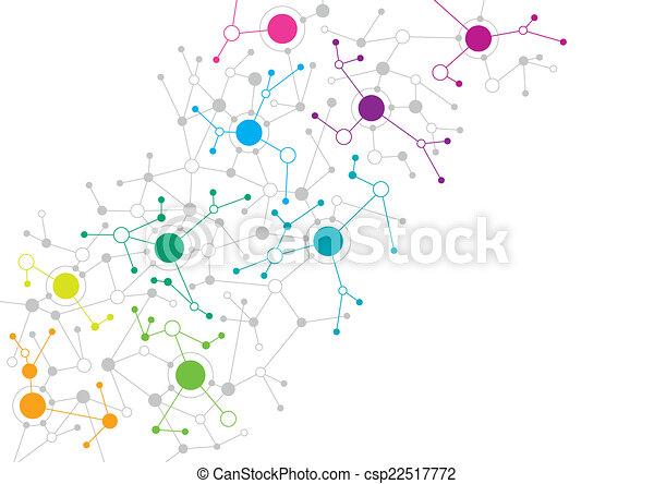 abstract ontwerp, netwerk - csp22517772