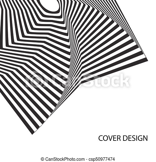 Abstract optical illusion. Abstract black and white optical illusion ...