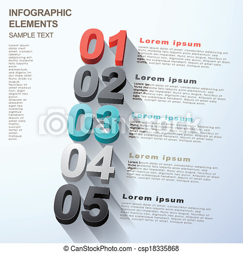 abstract option infographics - csp18335868