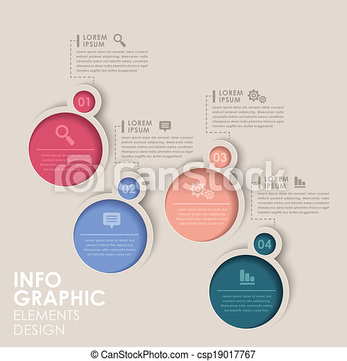 abstract option infographics - csp19017767