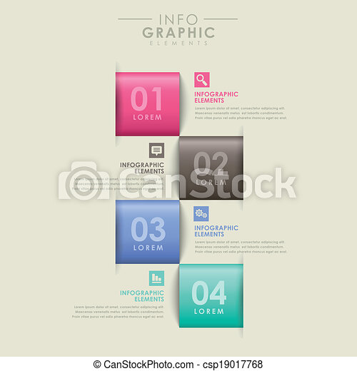 abstract option infographics - csp19017768